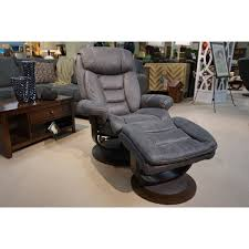 swivel chair with ottoman lounger and ottoman voquero gray microfiber