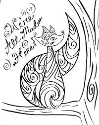 cheshire cat mask coloring page free download coloring pages