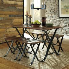 4 piece dining room set industrial style 5 piece dining room set with table and 4 backless