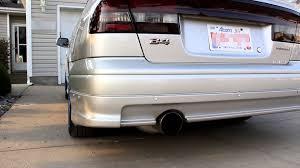2000 subaru legacy exhaust fujitsubo legalis r youtube