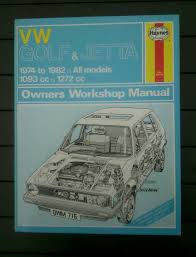 volkswagen golf u0026 jetta mk1 haynes workshop manual 1974 1982 1100