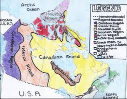 Canada On A Map Map Of The Regions Of Canada You Can See A Map Of Many Places On