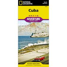 Map Cuba Cuba Classic Wall Map National Geographic Store