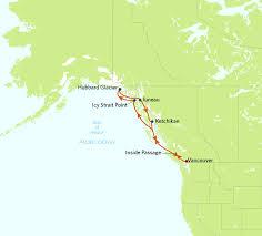 Gulf Of Alaska Map Alaska Inside Passage U0026 Hubbard Glacier Phil Hoffmann Travel