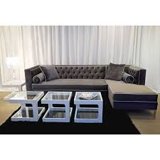 Grey Velvet Sectional Sofa Tremendeous Grey Velvet Sectional Sofa Windigoturbines Gray