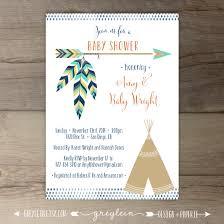 First Year Invitation Birthday Cards Babyshowerinvitation Tribal Baby Shower Invitations Birthday