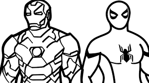 spiderman and iron man coloring pages kids fun art colouring book