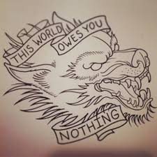 outline and profile for wolf design this owes you