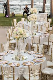 chic blush gold wedding décor at the americana