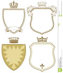 coat of arms or shields stock photo image of outlined 31796706