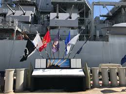 Misouri Flag Pow Mia Flag 50 State Tour Amvets Hawaii Uss Missouri Bb63 1
