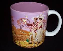 vintage disney mary poppins coffee mug cup van julie
