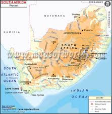africa map physical map of south africa