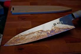 custom japanese kitchen knives mustard patina stainless steel search knives