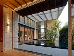 Interior Courtyard Zen Courtyard Contemporary Home In Singapore Inspired By The