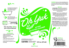 oh yuk jetted tub system cleaner 16 ounces co uk kitchen