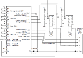 safety control unit sf c21 i o circuit and wiring diagrams