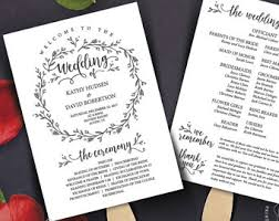 Wedding Ceremony Program Fans Wedding Program Fan