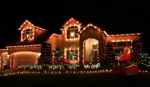 house decorating christmas lights rainforest islands ferry