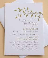 funeral invitation sle memorial service invitation cards best 25 funeral invitation ideas