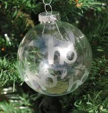 Etched Glass Ornaments Personalized Ready To Ship 4 Glass Christmas Ornament Etched By Blumoonstudio