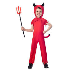 childs toddlers little devil boys halloween fancy dress party