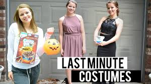 punny last minute halloween costumes youtube