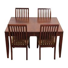 83 off macy u0027s macy u0027s metropolitan dining set with four chairs