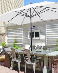 Patio Umbrella Table And Chairs by Backyard Makeover Ideas Crate And Barrel Blog