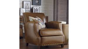 Cowhide Chairs And Ottomans Metropole Leather Chair Crate And Barrel