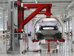 tesla factory tesla slips on report it u0027s cutting orders from one of its model 3