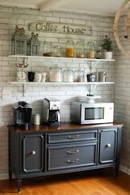 open shelving in kitchen caught in grace open shelves coffee bar buffet our home