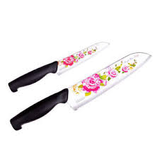 pink kitchen knives royal rose flower knife chef kitchen cutlery korea stainless