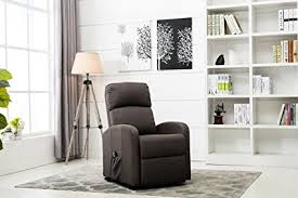 grey living room chairs amazon com divano roma furniture classic plush power lift