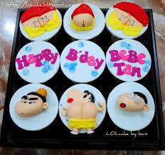 sinchan lolcake crayon sinchan cupcakes