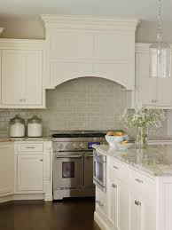 Gray Backsplash Kitchen Creamy Dreamy Traditional Kitchen Traditional White Kitchens