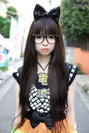 hairstyles for long straight hair with glasses cute harajuku girl in glasses kawaii pinterest harajuku and