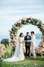 wedding arch used romanticly sun kissed garden wedding ideas in garden