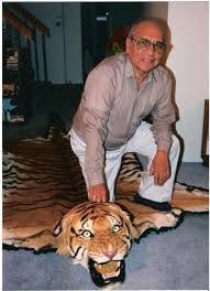russell peter u0027s father and the tiger skin rug he mentioned back