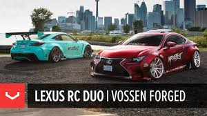 lexus rcf widebody rocket bunny lexus rc f u0026 rc 350 6ixside vossen forged youtube
