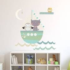 owl and pussycat fabric wall stickers by littleprints owl and pussycat fabric wall stickers