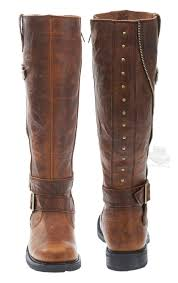 womens leather motorcycle riding boots 83863 harley davidson womens sennett distressed brown leather