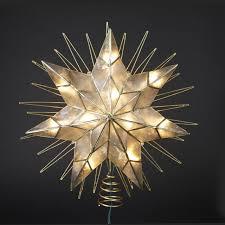 14 lighted capiz sunburst 7 point tree topper