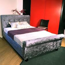Velvet Sleigh Bed Hf4you Bucky Crushed Velvet Sleigh Bedstead 4ft Small Double