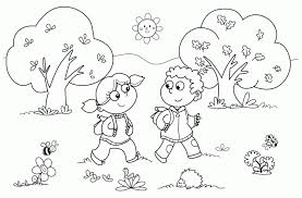 outdoor fall fun coloring page and seasons song preschool fall