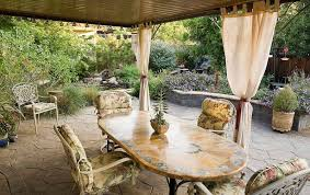 Patio Curtains Outdoor Outdoor Curtains For Patio With Rattan My Journey