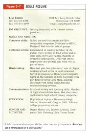 Resume Sample With Skills Section by Special Skills For Resume Free Resume Example And Writing Download