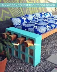 how to make a stylish outdoor bench from cinder block curbly