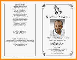 sle funeral programs free funeral program template for microsoft word 28 templates