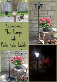 Solar Lights For Backyard Repurposed Floor Lamps Make Great Patio Solar Lights